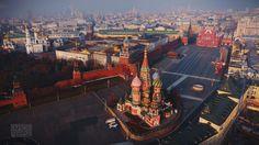 Drone přes Kremlu fotografii