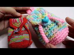 Crochet Birds, Crochet Hats, Backpacking For Beginners, Mini Backpack, Sharon Lee, Baby Shoes, Crochet Patterns, Crocheted Bags, Plant Hangers
