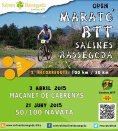 Marató BTT (#maratobttsb)- Maçanet de Cabrenys - 3 d'abril! Hi haurà dos recorreguts, 50 km i 100 km. T'ho perdràs?