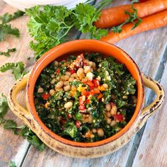 Delicious and nutritious, Lemony Kale Quinoa Salad is a colorful salad packed with lots of health benefits!