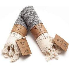 Smyrna Original Turkish Hand Towels Set of 2 Grey Hand Towels, Hand Towel Sets, Bathroom Towel Decor, Boho Bathroom, Amazon Home Decor, Luxury Kitchen Design, Luxury Kitchens, Turkish Cotton Towels, Guest Towels