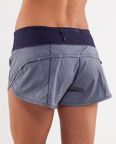 Easily my favorite work out shorts. Have these in olive green and yellow. Speed Short by Lululemon $54