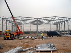 Portal frames - SteelConstruction.info Life Cycle Assessment, Thermal Mass, Steel Frame Construction, Steel Buildings, Steel Structure, Portal, Industrial, Fire, Architecture