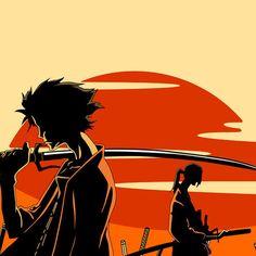 Mugen & Jin, Samurai Champloo. via hrvst