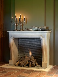 #Hand Carved Fireplaces #Fireplace limestone – French & Italian fireplaces - marble fireplaces Ideas | de-opkamer.com