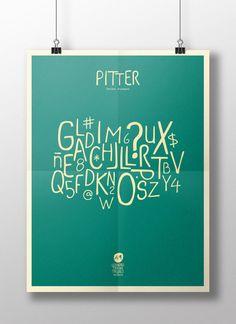 PITTER (free font) by Leandro Triana Trujillo, via Behance