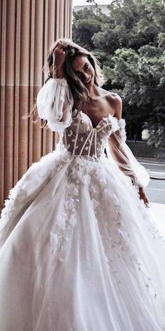 Disney Wedding Dresses, Cute Wedding Dress, Dream Wedding Dresses, Bridal Dresses, Wedding Gowns, Wedding Bride, Wedding Dress Princess, Fairy Wedding Dress, Wedding Disney