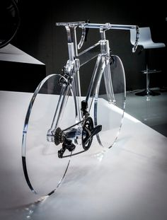 #plexiglas #bike made by Fusina (project by Bassodesign) for FSA stand at Eurobike 2016 (Friedrichshafen, Germany)