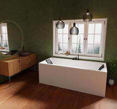 Nemo badekar i hvit matt akryl. Tilgjengelig i svart, grå og hvit matt også tilgjengelig med massasjesystem eller MicroSilk. Bathtub, Bathroom, Standing Bath, Washroom, Bathtubs, Bath Tube, Full Bath, Bath, Bathrooms