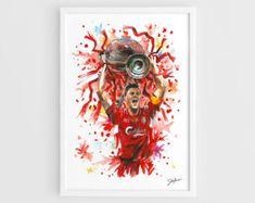 Steven Gerrard Liverpool FC A3 Wall Art Print Poster by NazarArt