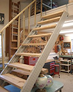 1000 images about loft stairs on pinterest loft stairs Garage loft stairs