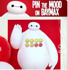 Big Hero 6 Free Printable Pin the Mood on Baymax Game