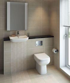 Origin 62 Back-to-Wall Toilet with Soft-Close Seat - Frontline Bathroom Vanity Designs, Bathroom Layout, Bathroom Interior Design, Bathroom Ideas, Bathroom Inspo, Dream Bathrooms, Amazing Bathrooms, Toilet Room, Toilet Sink