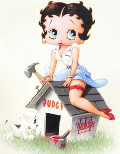 BETTY BOOP PUDGY HOUSE