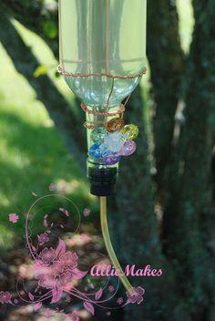 What Allie's Making Now: Wine Bottle Hummingbird Feeder