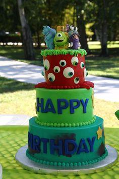Monsters Inc. birthday cake.
