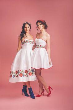 Folk, suknia ślubna