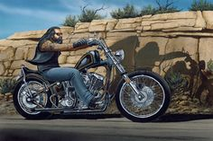 David Mann Motorcycle Art | david mann easyriders : gartak