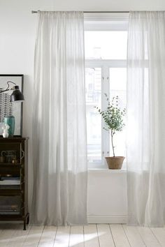 4 Unique Tips Can Change Your Life: Modern Double Curtains french curtains shabby chic.How To Dye Drop Cloth Curtains french curtains shabby chic.Very Long Curtains. Sheer Linen Curtains, French Country Living Room, Ikea Curtains, White Curtains, Curtain Decor, Curtains, Red Curtains, Home, Curtains Bedroom