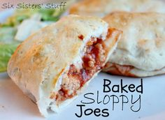 Baked Sloppy Joes from sixsistersstuff.com! #maindish #groundturkey #recipe