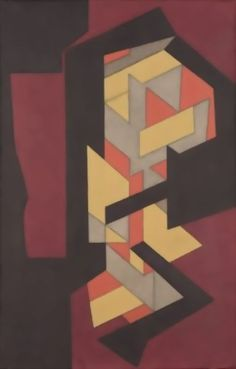 Lom-Lan, Oil by Victor Vasarely (1906-1997, Hungary)
