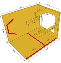 Projeto 4a Ordem Bandpass Horn 8 Inch Subwoofer Box, Subwoofer Box Design, Speaker Box Design, Monitor Speakers, Diy Speakers, Sub Box Design, Speaker Plans, Box Building, Audio
