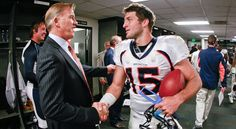 John Elway and Tim Tebow