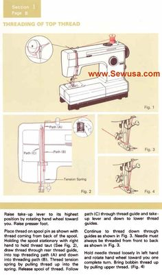 how to thread a kenmore sewing machine model 385