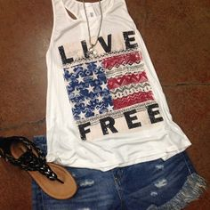 4th of july outfit with cute lace flag