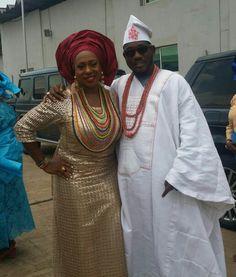 African attires for a Yoruba wedding  the femal clothes by osc signature fashion