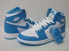 new arrival c29fa 87ce3 Nike Air Jordan 1 Retro High OG BG Youth Basketball Powder Blue White  575441 117