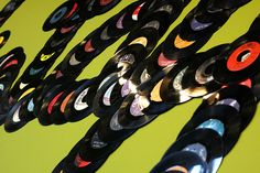 Vinyl records on the Wall by DreAmingDigITal, via Flickr