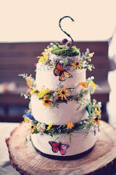 colorful wedding cakes pictures | Over the Rainbow: Jenn & Matt in Shreveport, LA | Wedding Planning ...