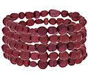 Honora Cultured Pearl Set of 5 Stretch Bracelets — QVC.com Color: Cherry, Size: Average