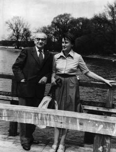 Józef Mackiewicz z córką