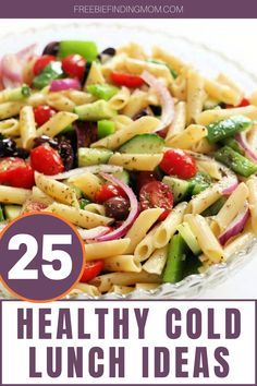 Do you need quick, easy, and delicious cold lunch ideas for work or home? Here you'll find 25 Healthy Cold Lunch Ideas that are nutritious, flavorful, and budget friendly. Try healthy recipes like Gluten Free Greek Pasta Salad, Skinny Chicken Caesar Pitas, Greek Yogurt Chicken Salad Sandwich, and more! #coldlunchideas #coldpastasaladrecipes #healthylunchideas #healthyrecipes Cold Lunch Recipes, Healthy Cold Lunches, Healthy Recipes, Eating Healthy, Summer Recipes, Keto Recipes, Dinner Recipes, Cold Lunch Ideas For Work, Quick Easy Lunch Ideas