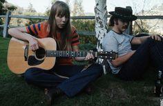 Joni Mitchell & David Crosby in Laurel Canyon