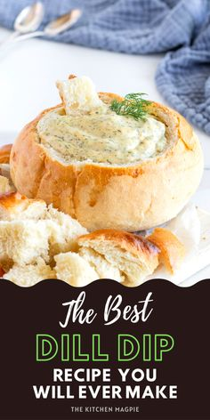 How to make homemade dill dip. This easy and fast recipe is the perfect base that you can customize to your own liking! (as a Ukrainian girl, I love to add more dill of course!) Dill Dip Recipes, Best Pasta Recipes, Brunch Recipes, Yummy Appetizers, Appetizer Recipes, Snack Recipes, Cooking Recipes, Ukrainian Recipes