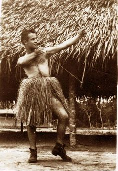 Mitch in New Guinea during World War II, from the novel A Devil Singing Small.