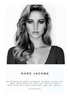 Marc Jacobs Jennifer Lawrence beautiful favorite celebrities black and white