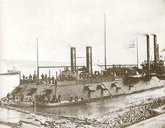 USS Carondelet (1861-1865) City class ironclad gunboat, steam engine