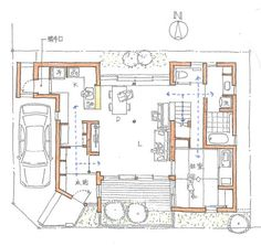 Japan House Design, Plan Sketch, Japanese House, Architecture Plan, House Floor Plans, Home Deco, Interior Design Living Room, Future House, Layout