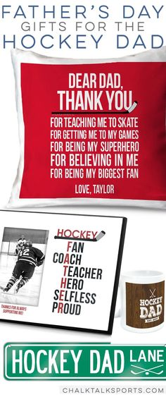 Hockey Dad Father's Day gift ideas! #hockey