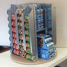 Lazy Susan Canned Food Storage System