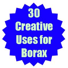 30 creative uses for 20 Mule Team Borax. From household cleaners to pest repellents Borax can be used in so many different ways. Borax Uses, Household Cleaners, Household Tips, Clean House, Home Remedies, Cleaning Hacks, Fruit Water, Creative, Blog