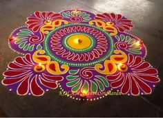Discover the most beautiful collection of rangoli designs for Diwali. Explore unique and colorful rangoli design ideas and images for the upcoming festival. Indian Rangoli Designs, Rangoli Designs Latest, Simple Rangoli Designs Images, Rangoli Designs Flower, Rangoli Designs With Dots, Beautiful Rangoli Designs, Latest Rangoli, Rangoli Colours, Rangoli Patterns
