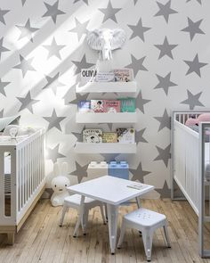 Project Nursery - SISSY+MARLEY for Jill Malek Wallpaper - Lucky Stars