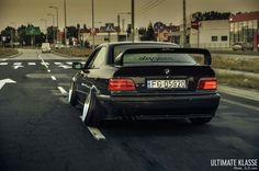 BMW E36 3 series black dapper stance