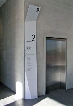 University of South Australia Signage, nice wayfinding at elevator
