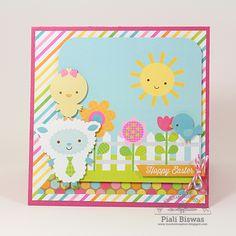 Doodlebug Design Inc Blog: Easter Parade Card by Piali Biswas.